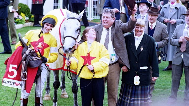 One Man with joyous connections after the 1998 Champion Chase