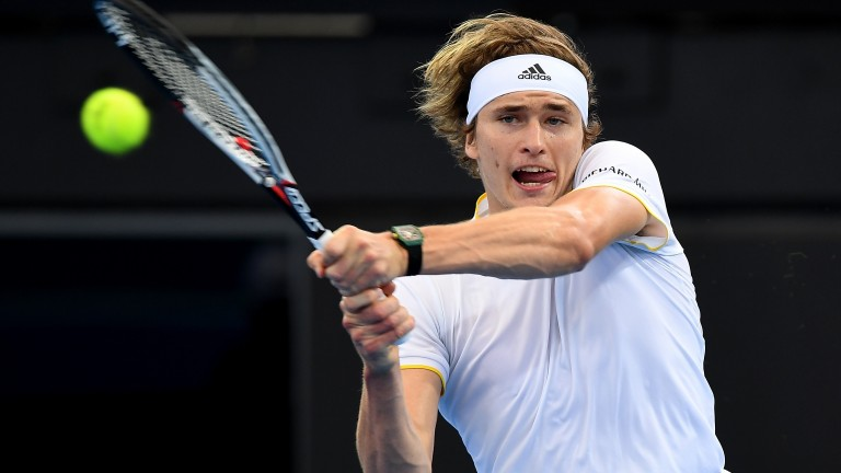 Alexander Zverev eased to a first-round win on Monday