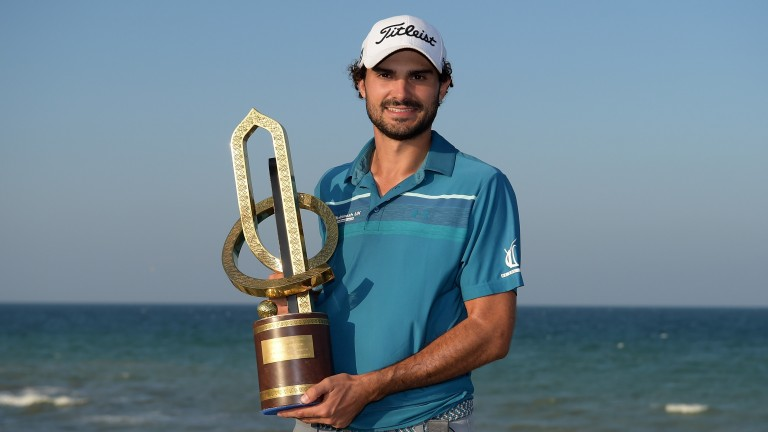 Clement Sordet poses with the NBO Golf Classic Grand Final trophy