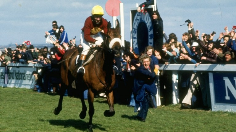 Red Rum lands his third Grand National in 1977