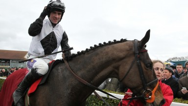 Brian O'Connell and Dunguib are led in after victory at Navan