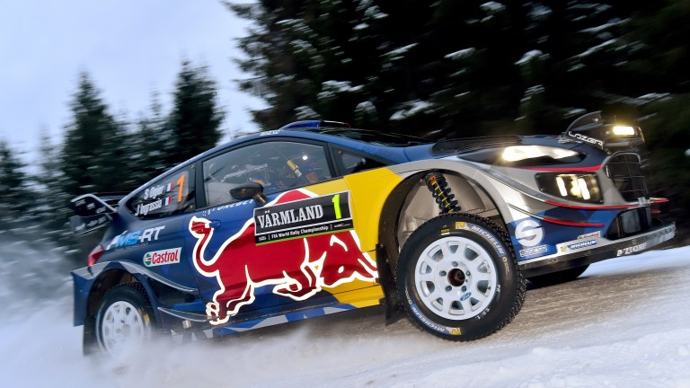 Sebastien Ogier at WRC Rally Sweden 2017