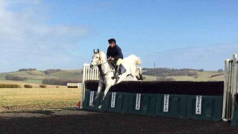 Richard Pitman schooling Right Enough on Thursday morning