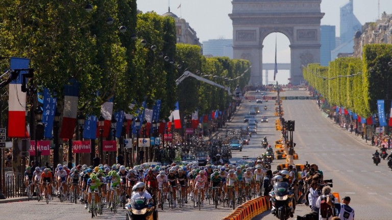 The Champs-Elysees hosts the final stage of the Tour de France and may be the venue for the first street racing event in September