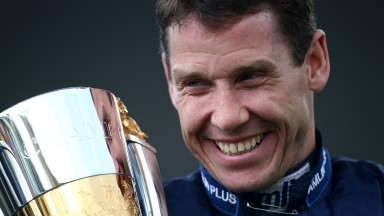Brian Hughes is logical about his chances of overhauling the champion Richard Johnson (above)