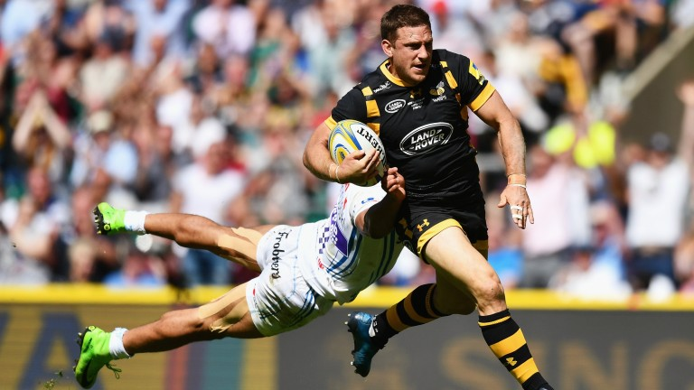 Wasps centre Jimmy Gopperth on the charge against Exeter in last year's grand final