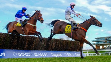 Waiting Patiently - Brian Hughes wins from Cue Card - Paddy BrennanThe Betfair Ascot Chase (Grade 1) (Class 1) Ascot 16/02/2018©cranhamphoto.com