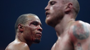 Chris Eubank jnr is bloodied up against George Groves