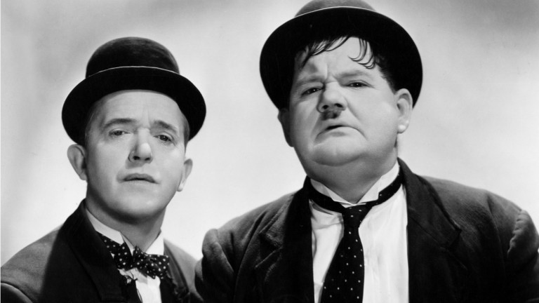 Stan Laurel and Oliver Hardy often ended up in a mess