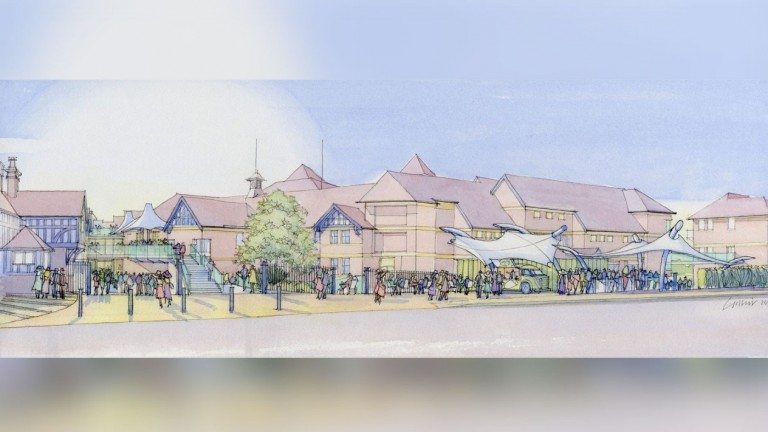 An artist's impression of the new look approach to Chester racecourse released in January