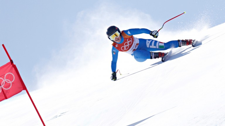 Sofia Goggia in action during the Super-G
