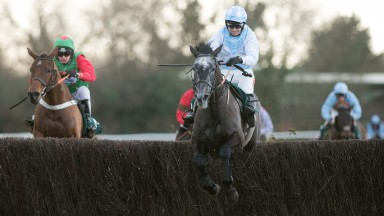 The Artful Cobbler in winning action under Paddy Brennan at Warwick last month