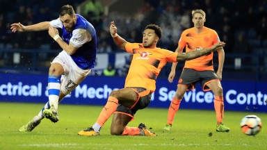 Atdhe Nuhiu of Sheffield Wednesday has scored four goals in his last six starts