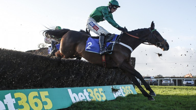 Daryl Jacob winning the Peterborough Chase at Taunton on Top Notch