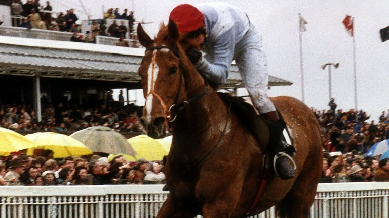 Seagram and Nigel Hawke win the 1991 Grand National at Aintree