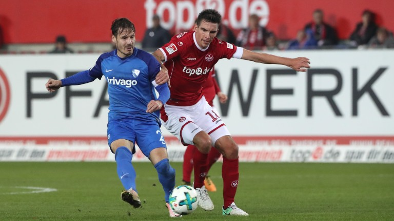 Kaiserslautern captain Christoph Moritz (right) is due to return from suspension