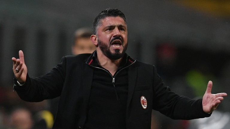 Milan manager Gennaro Gattuso is defensively-minded