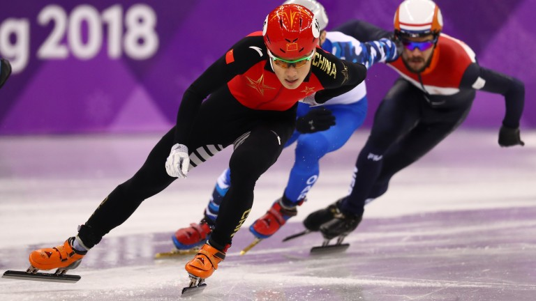 China's Ziwei Ren in action during the 500m heats