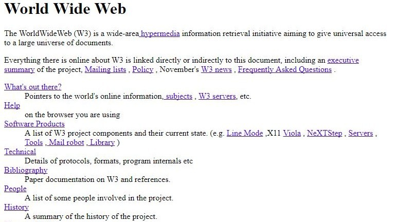 W£: the first web page