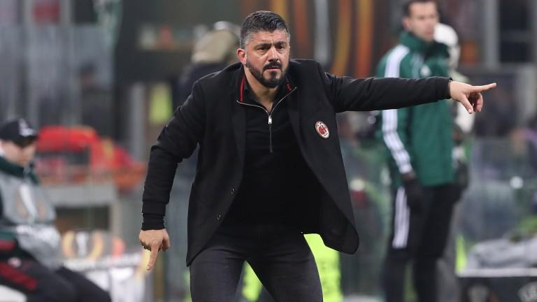 Milan coach Rino Gattuso