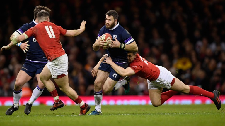 Scotland winger Tommy Seymour couldn't find a way through the Wales defence