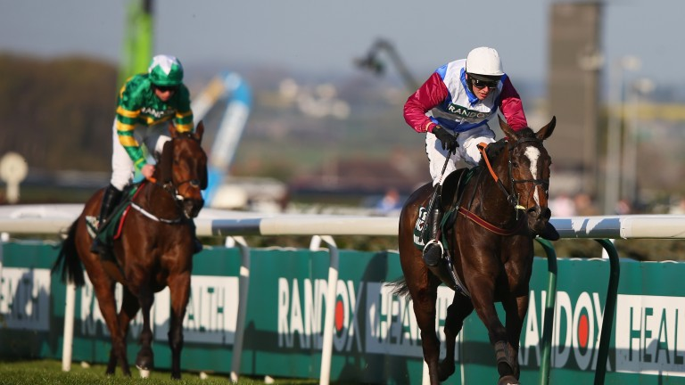 Cause Of Causes chases One For Arthur home in the Grand National