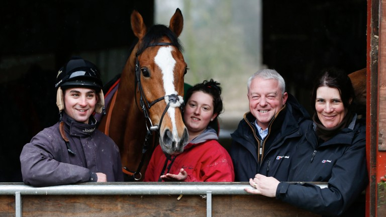 Joe Colliver (left) with Sam Spinner and the team at Jedd O'Keeffe's yard