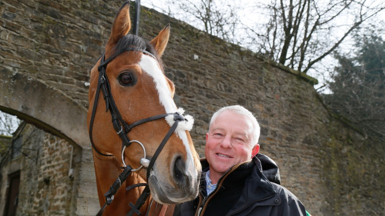Trainer Jedd O'Keeffe with Sam Spinner