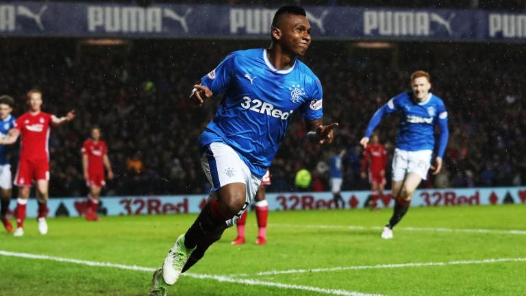 Alfredo Morelos is Rangers' top scorer in the Ladbrokes Premiership