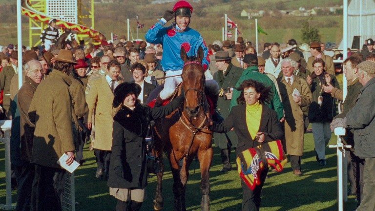 Philip Hide and Brief Gale return to the winner's enclosure