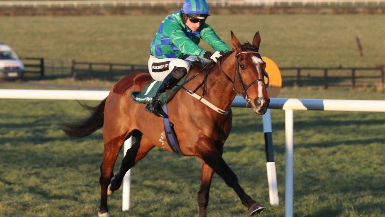 Carefully Selected (Patrick Mullins) out on his own at Naas last Sunday