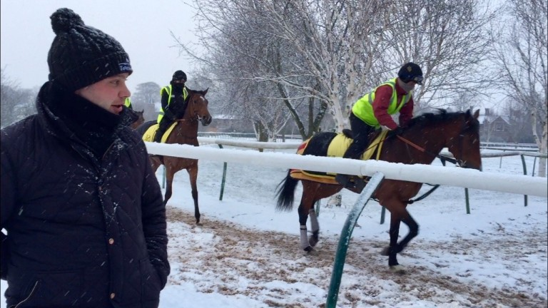 Henry Spiller: wrapped up well against the elements on the Severals