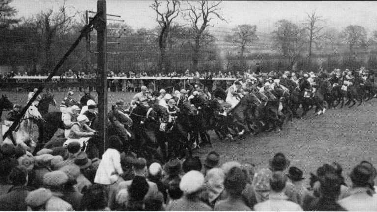 World record: 58 runners lined up for the 1948 Lincolnshire Handicap
