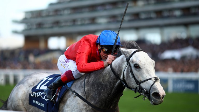 Persuasive brings the curtain down on her racing career with success in the Queen Elizabeth II Stakes at Ascot