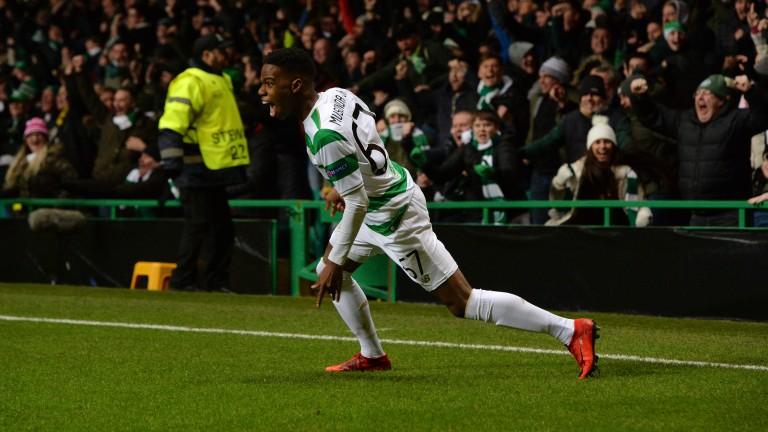Charly Musonda of Celtic celebrates