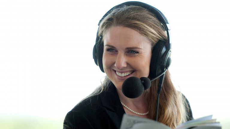 Hayley Moore: the racing presenter is 31