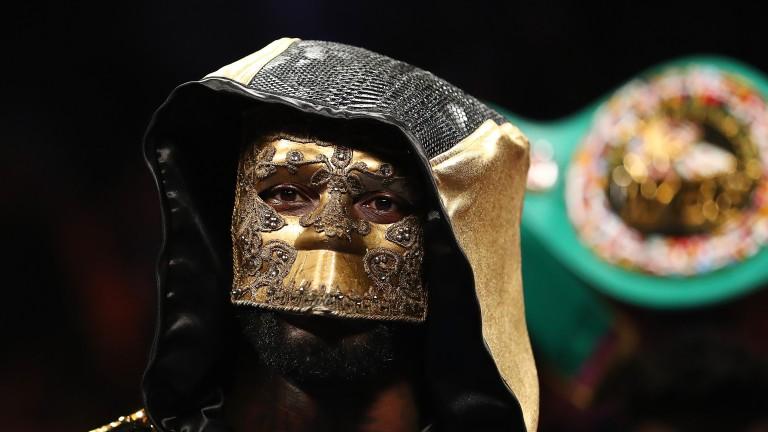 A masked Deontay Wilder prepares for battle against Bermane Stiverne