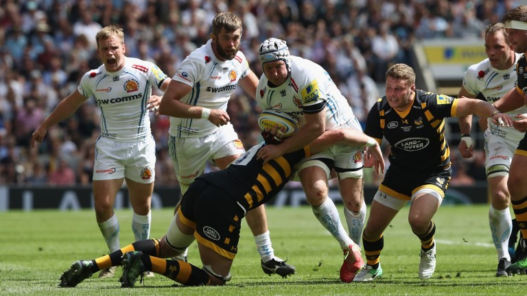 Thomas Waldrom is a tryscoring threat for Exeter