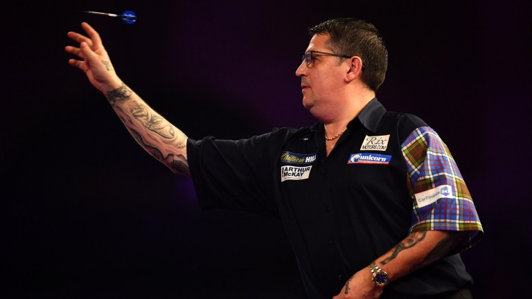 Gary Anderson has been throwing beautifully in Minehead