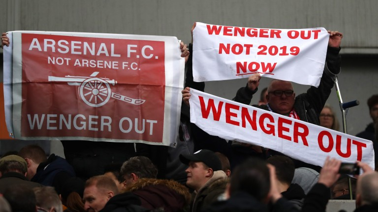 Arsenal fans have run out of patience with their manager