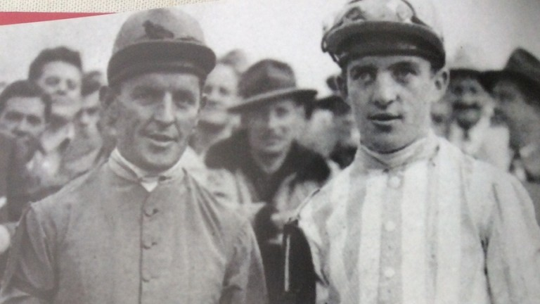 Gold Cup winner Martin Molony (right) with his brother Tim