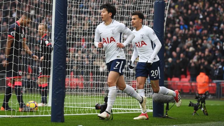 Tottenham's Heung-Min Son and Dele Alli