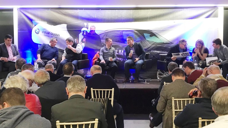 The panel gets to grips with the Cheltenahm Festival in Colm Quinn's showrooms, Athlone