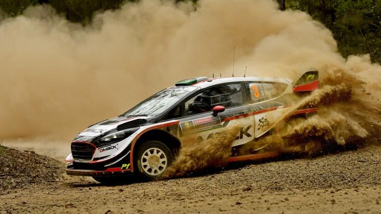 Elfyn Evans kicks up some dust in Australia
