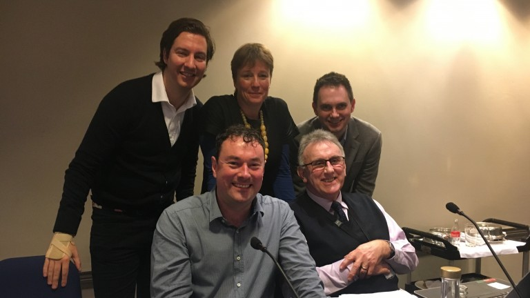 The London Racing Club panel (from left to right): Luke Tarr, Matt Tombs, Lydia Hislop, Phil Smith and Lee Mottershead