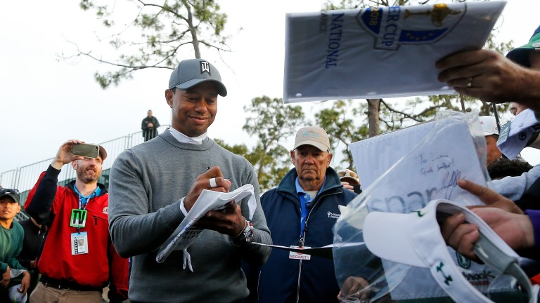 Tiger Woods impressed the fans at Copperhead