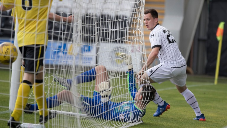 Former St Mirren hitman Lawrence Shankland is doing well for Ayr United