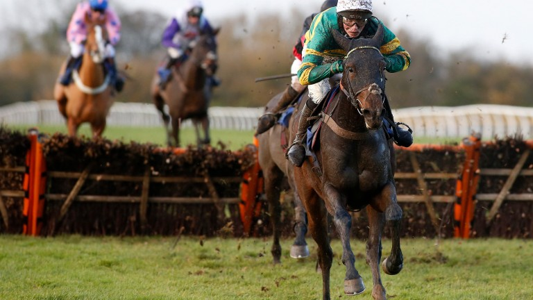 Brelan D'As, seen here winning at Wincanton, will be partnered by Bryony Frost at Cheltenham on Friday