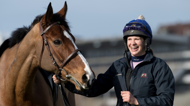 Faugheen takes a look at the familiar Cheltenham surroundings with groom Rachel Robins