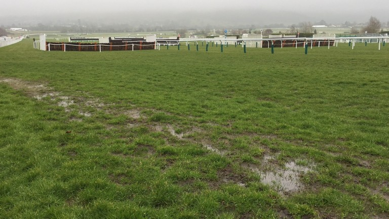 The signs of rain are obvious at Cheltenham on Monday morning